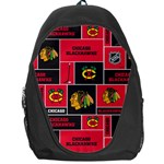 Chicago Blackhawks Nhl Block Fleece Fabric Backpack Bag Front