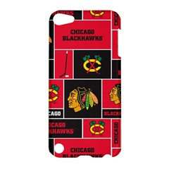 Chicago Blackhawks Nhl Block Fleece Fabric Apple Ipod Touch 5 Hardshell Case