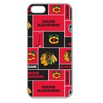 Chicago Blackhawks Nhl Block Fleece Fabric Apple Seamless iPhone 5 Case (Clear) Front