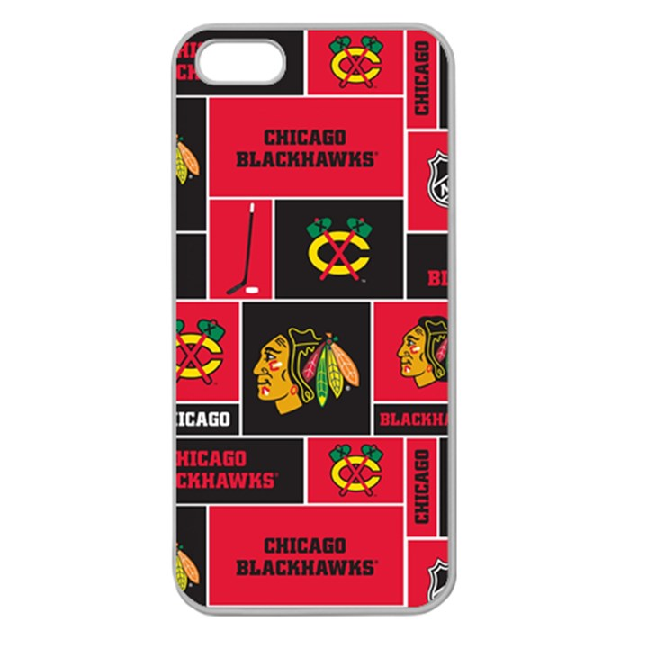 Chicago Blackhawks Nhl Block Fleece Fabric Apple Seamless iPhone 5 Case (Clear)
