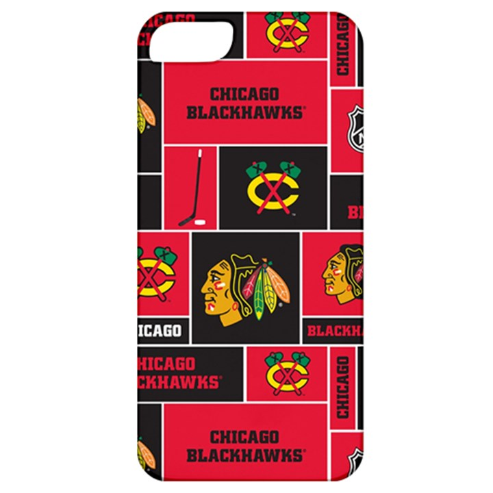 Chicago Blackhawks Nhl Block Fleece Fabric Apple iPhone 5 Classic Hardshell Case