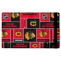Chicago Blackhawks Nhl Block Fleece Fabric Apple Ipad 3/4 Flip Case