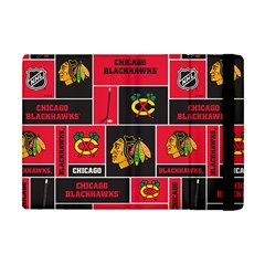 Chicago Blackhawks Nhl Block Fleece Fabric Apple Ipad Mini Flip Case