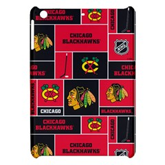 Chicago Blackhawks Nhl Block Fleece Fabric Apple Ipad Mini Hardshell Case