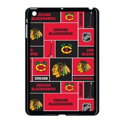 Chicago Blackhawks Nhl Block Fleece Fabric Apple iPad Mini Case (Black)
