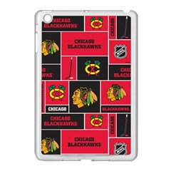 Chicago Blackhawks Nhl Block Fleece Fabric Apple iPad Mini Case (White)