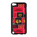Chicago Blackhawks Nhl Block Fleece Fabric Apple iPod Touch 5 Case (Black) Front