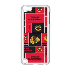 Chicago Blackhawks Nhl Block Fleece Fabric Apple iPod Touch 5 Case (White)