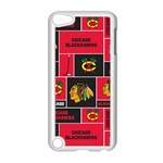 Chicago Blackhawks Nhl Block Fleece Fabric Apple iPod Touch 5 Case (White) Front