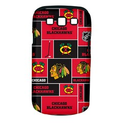 Chicago Blackhawks Nhl Block Fleece Fabric Samsung Galaxy S Iii Classic Hardshell Case (pc+silicone)