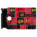 Chicago Blackhawks Nhl Block Fleece Fabric Apple iPad 3/4 Flip 360 Case Front