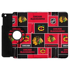 Chicago Blackhawks Nhl Block Fleece Fabric Apple Ipad Mini Flip 360 Case