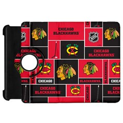 Chicago Blackhawks Nhl Block Fleece Fabric Kindle Fire HD Flip 360 Case