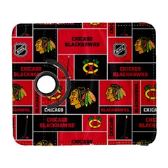 Chicago Blackhawks Nhl Block Fleece Fabric Samsung Galaxy S  III Flip 360 Case