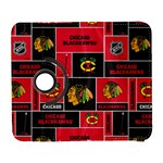 Chicago Blackhawks Nhl Block Fleece Fabric Samsung Galaxy S  III Flip 360 Case Front