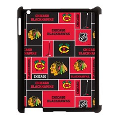 Chicago Blackhawks Nhl Block Fleece Fabric Apple Ipad 3/4 Case (black)