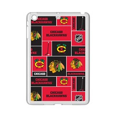Chicago Blackhawks Nhl Block Fleece Fabric iPad Mini 2 Enamel Coated Cases