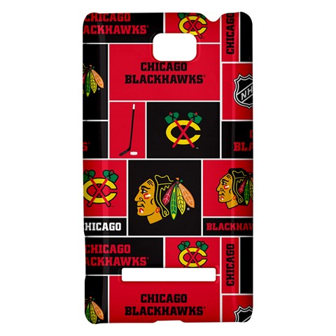 Chicago Blackhawks Nhl Block Fleece Fabric HTC 8S Hardshell Case