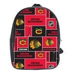 Chicago Blackhawks Nhl Block Fleece Fabric School Bags (XL)  Front
