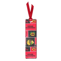 Chicago Blackhawks Nhl Block Fleece Fabric Small Book Marks