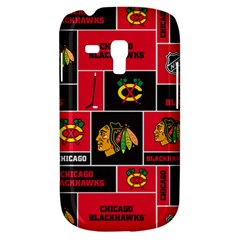 Chicago Blackhawks Nhl Block Fleece Fabric Samsung Galaxy S3 MINI I8190 Hardshell Case