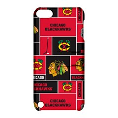 Chicago Blackhawks Nhl Block Fleece Fabric Apple iPod Touch 5 Hardshell Case with Stand
