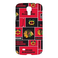 Chicago Blackhawks Nhl Block Fleece Fabric Samsung Galaxy S4 I9500/I9505 Hardshell Case