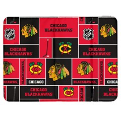 Chicago Blackhawks Nhl Block Fleece Fabric Samsung Galaxy Tab 7  P1000 Flip Case