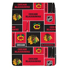 Chicago Blackhawks Nhl Block Fleece Fabric Flap Covers (l)