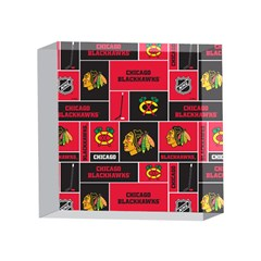 Chicago Blackhawks Nhl Block Fleece Fabric 4 x 4  Acrylic Photo Blocks