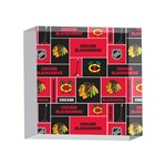 Chicago Blackhawks Nhl Block Fleece Fabric 4 x 4  Acrylic Photo Blocks Front