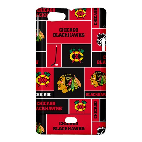 Chicago Blackhawks Nhl Block Fleece Fabric Sony Xperia Miro