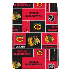 Chicago Blackhawks Nhl Block Fleece Fabric Flap Covers (s)