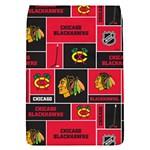 Chicago Blackhawks Nhl Block Fleece Fabric Flap Covers (S)  Front