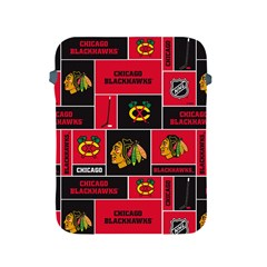 Chicago Blackhawks Nhl Block Fleece Fabric Apple iPad 2/3/4 Protective Soft Cases