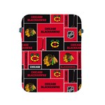 Chicago Blackhawks Nhl Block Fleece Fabric Apple iPad 2/3/4 Protective Soft Cases Front