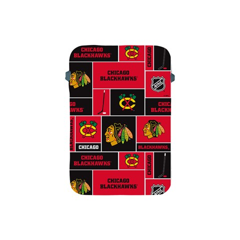 Chicago Blackhawks Nhl Block Fleece Fabric Apple iPad Mini Protective Soft Cases