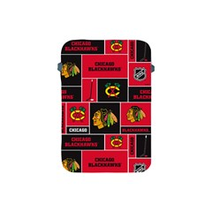 Chicago Blackhawks Nhl Block Fleece Fabric Apple iPad Mini Protective Soft Cases