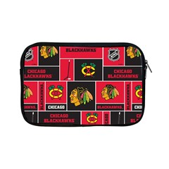Chicago Blackhawks Nhl Block Fleece Fabric Apple Ipad Mini Zipper Cases