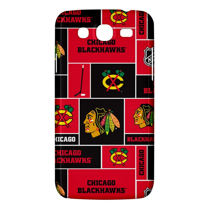 Chicago Blackhawks Nhl Block Fleece Fabric Samsung Galaxy Mega 5.8 I9152 Hardshell Case