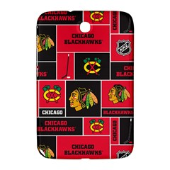 Chicago Blackhawks Nhl Block Fleece Fabric Samsung Galaxy Note 8.0 N5100 Hardshell Case