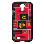 Chicago Blackhawks Nhl Block Fleece Fabric Samsung Galaxy S4 I9500/ I9505 Case (Black) Front