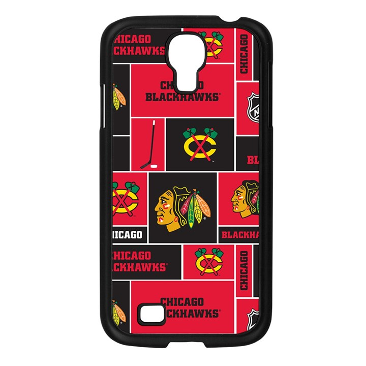 Chicago Blackhawks Nhl Block Fleece Fabric Samsung Galaxy S4 I9500/ I9505 Case (Black)