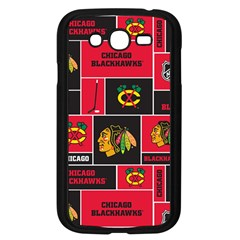 Chicago Blackhawks Nhl Block Fleece Fabric Samsung Galaxy Grand DUOS I9082 Case (Black)