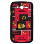 Chicago Blackhawks Nhl Block Fleece Fabric Samsung Galaxy Grand DUOS I9082 Case (Black) Front