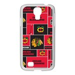 Chicago Blackhawks Nhl Block Fleece Fabric Samsung GALAXY S4 I9500/ I9505 Case (White) Front