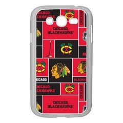 Chicago Blackhawks Nhl Block Fleece Fabric Samsung Galaxy Grand DUOS I9082 Case (White)