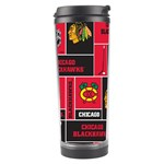 Chicago Blackhawks Nhl Block Fleece Fabric Travel Tumbler Left