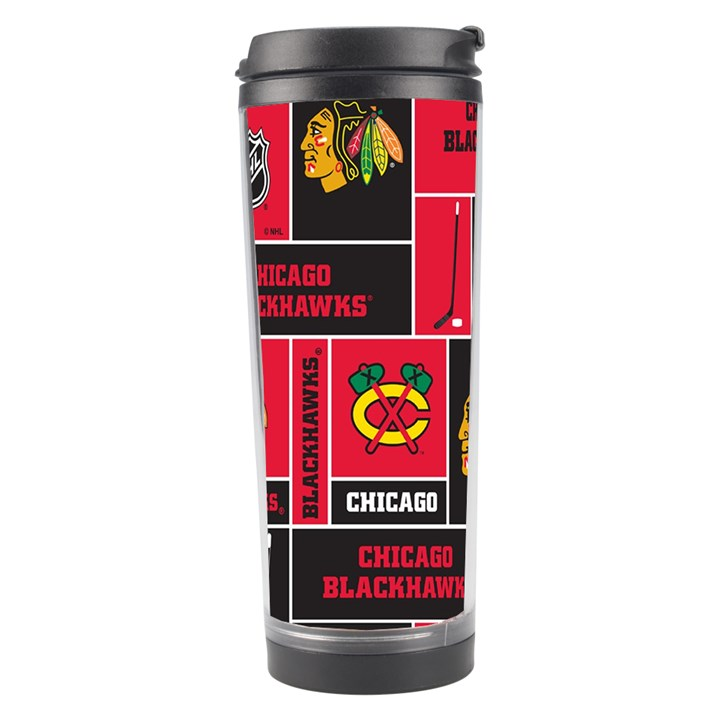 Chicago Blackhawks Nhl Block Fleece Fabric Travel Tumbler