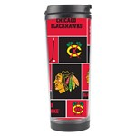 Chicago Blackhawks Nhl Block Fleece Fabric Travel Tumbler Center